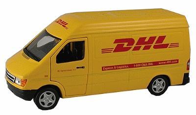 1/43 Dodge Van DHL O Model Power Diecast Car / Truck / Vehicle 1/4O-1/49 Scale