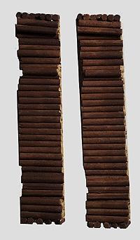 Model Railstuff Puplwood Loads (One-Piece, Painted Plaster Castings)