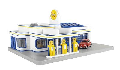 Operating Gas Station -- Sunoco - O MTH Electric Trains Model Train Building O/027 Scale