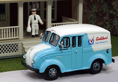 HO Autoscenes Mickey/'s Milk Delivery 1950/'s Milk Truck 1:87 Woodland Scenics MIP