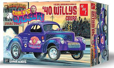 1940 Willy Coupe Currly s Gasser Drag Car Plastic Model Car Kit 1/25 Scale  #939
