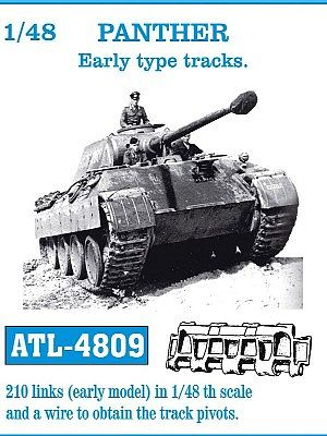 Panther Early Track Link Set (210 Links) Plastic Model Tank Tracks 1/48  Scale #4809