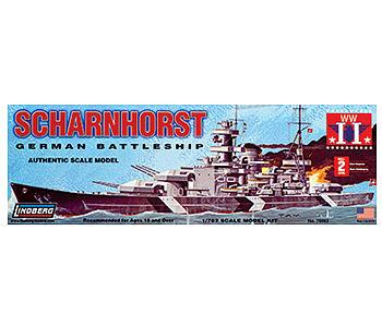 Lindberg WWII Scharnhorst German Battleship 1//762 Skill level 2 NEW