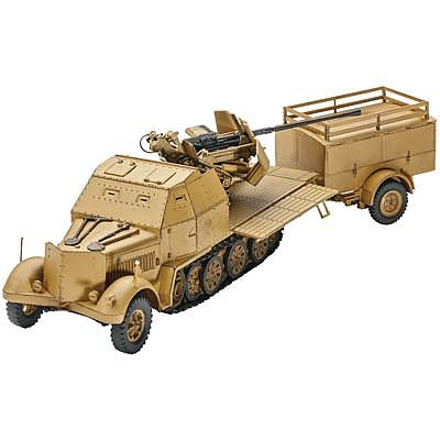 REVELL 1:72 03207 SD KFZ 7//2 Level 4 Half Track Artillery Vehicle Kit 140 Parts
