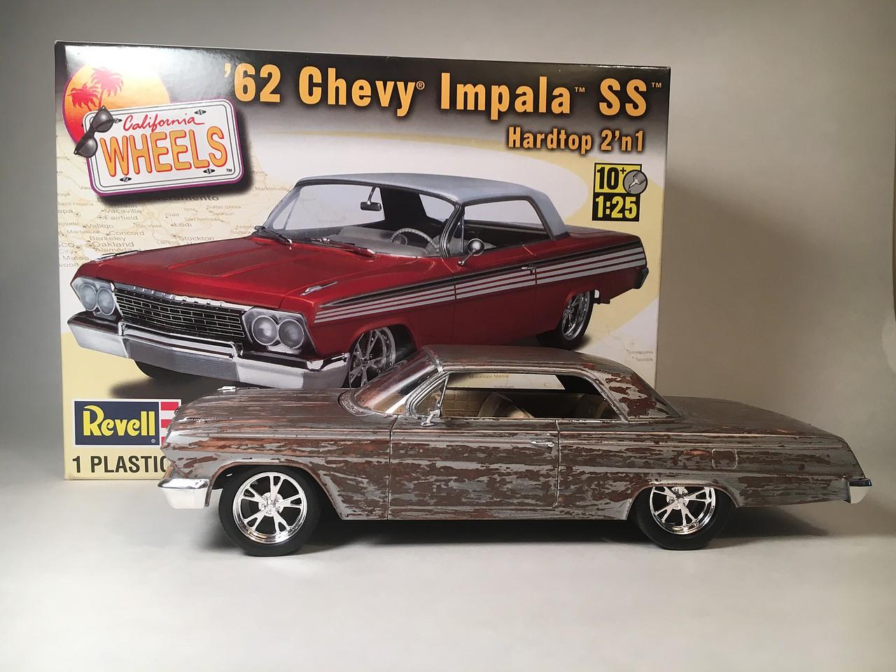 Revell Monogram 1962 Chevy Impala Ss 2n1 Plastic Model Car Kit 1 25 1957 Scale 854281